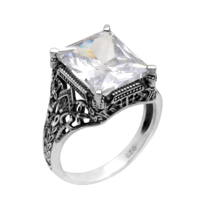 JEWELLERY - Bague - Femme - mariage - Argent- 925° - Cubic zirconia - Blanc