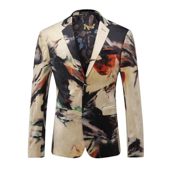 Hommes Costumes Designer Coloré Veste Italiens Blazer qfYRg