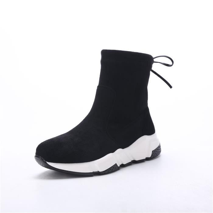 Bottes femme Bottes mode Bottes chaudement Bottes courtes Bottes avec coton Bottes hiver Bottes élégantes Chaussures chaudement
