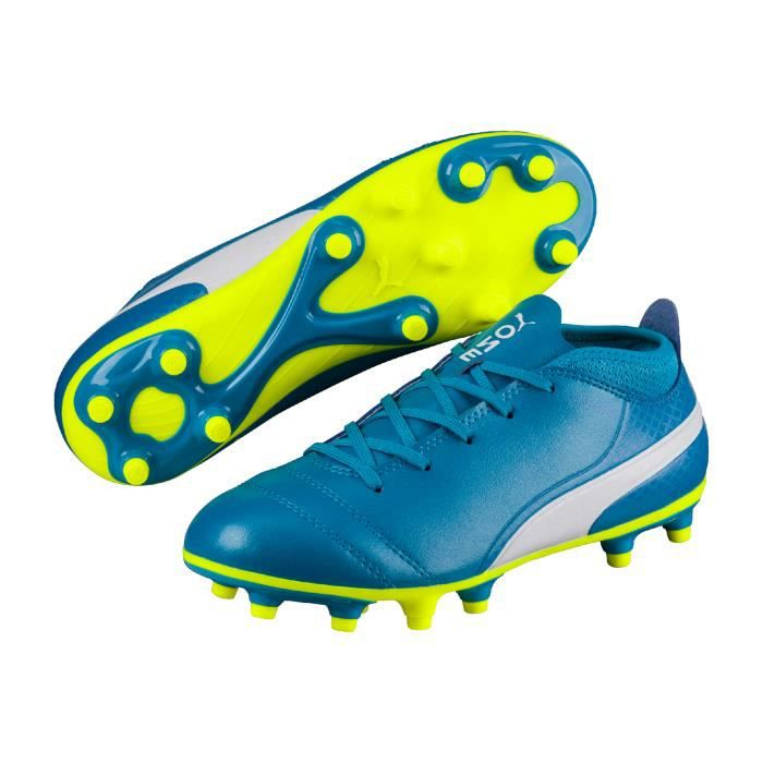 timeless design 3f278 2280e Pas 17 Bleu Junior Fg Chaussures Puma One Prix Cher 4 Football 7xqnxa1gT
