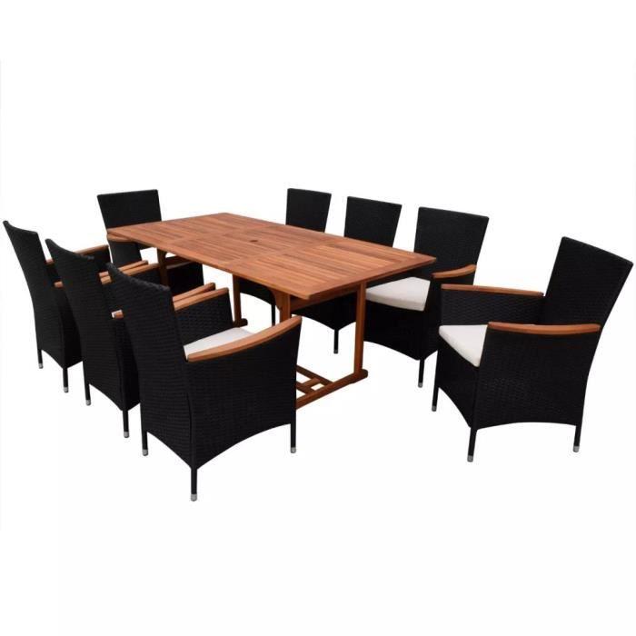 17 pcs Jeu de mobilier de jardin Ensemble table chaise faute de ...