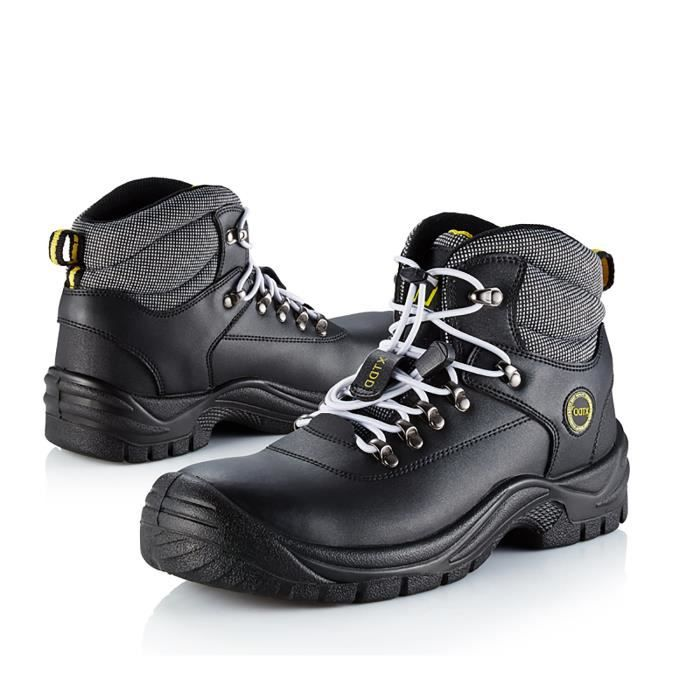 Ankle High Work Boots For Water Resistant Steel Toe Boots Black L3R3O Taille-43