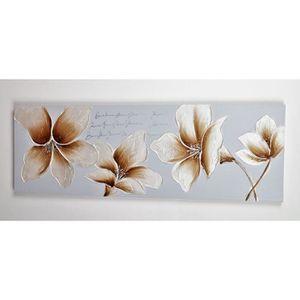 TABLEAU - TOILE Tableau déco Fleurs  123 -  Toile peinte à la main