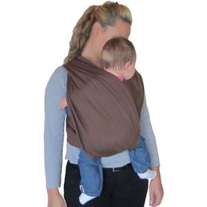 ÉCHARPE DE PORTAGE Porte bébé écharpe de portage sans noeud marron ré