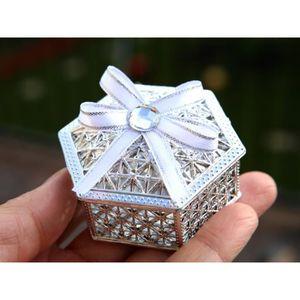 BOÎTE À DRAGÉES 50 boîtes à dragées métallisés hexagonal orientale