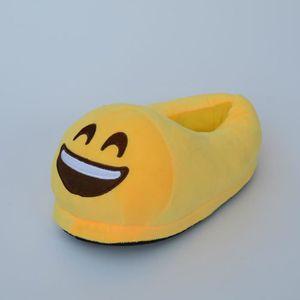 #5 une paire de chaussons pantoufles chaussures amusantes pour maison domestique Expression Imoji drôle Langue Jaune qp4e3dernK