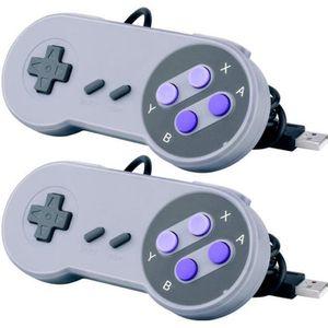 MANETTE JEUX VIDÉO SuperLove® 2pcs Manette USB NES SNES Super Nintend