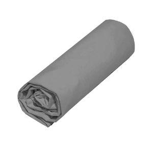 DRAP HOUSSE COTE DECO Drap housse Microfibre 140x190 cm - Gris