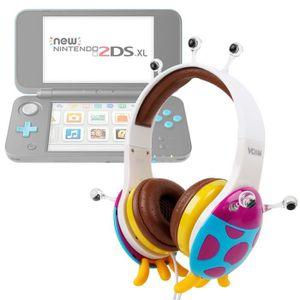 CASQUE - ÉCOUTEURS Casque audio pour console de jeux Nintendo 2DS XL