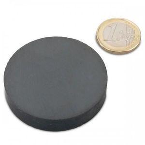AIMANTS - MAGNETS Disque Ø 50 x 10mm Ferrite Y30 sans placage adhére