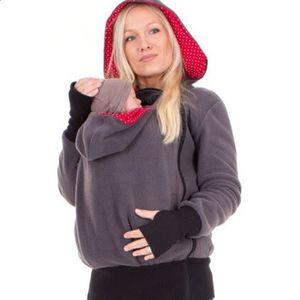 fbcbe0a9e10a Pull Vêtement Veste capuchonné Kangourou avec Zipper Porte-bébé capuche  pour voyage promenade Automne Hiver