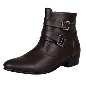 Boots homme cuir Achat Vente pas cher