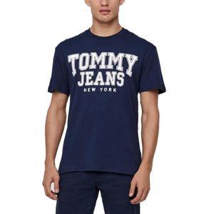 e6f640b113675 T-SHIRT TJM Essential Homme Tee Shirt Bleu Tommy Hilfiger