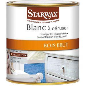 peinture vernis starwax blanc a ceruser 500ml 766