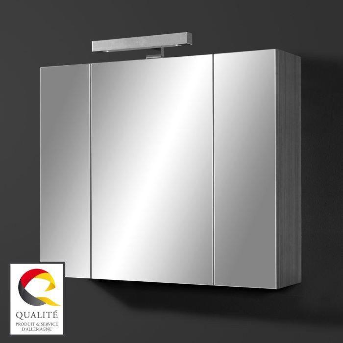 JULIANA Armoire miroir avec éclairage LED - Achat / Vente armoire ...