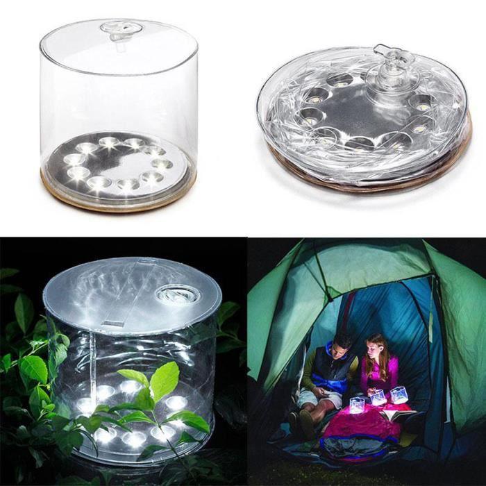 LED solaire pliable gonflable Lampe portable pour les ornements de ...