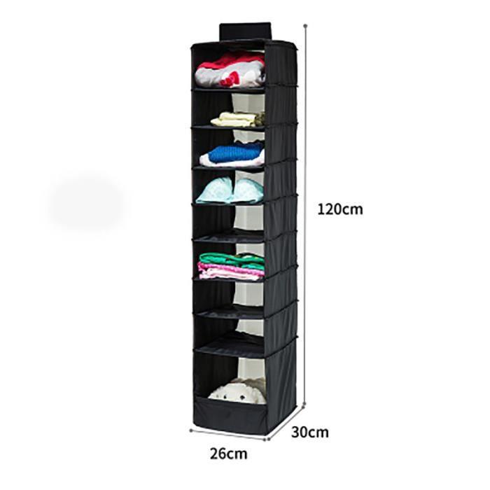 9 Section étagères Armoire Chaussures Vêtements Hanging Vêtement