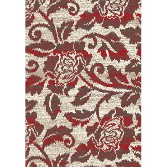 Tapis moderne Beige marron rouge 120x180 - Achat / Vente tapis ...