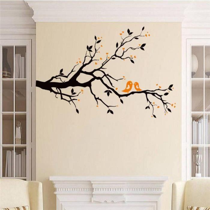 Noir branche d 39 arbre stickers muraux salon d cor x014 - Stickers muraux salon ...
