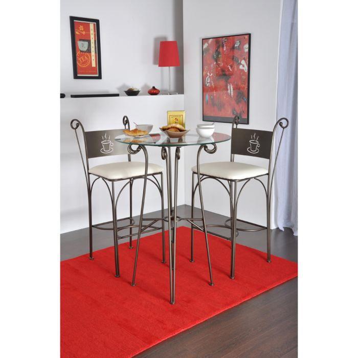 Table haute en verre - Achat / Vente Table haute en verre pas cher ...