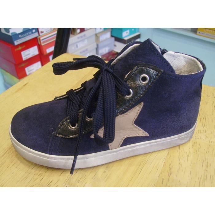 Chaussure enfants. Baskets cuir filles BIKEY P27
