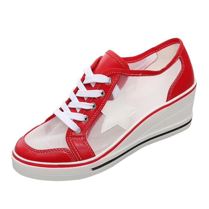 BASKET Chaussures femmes baskets mode compensées sneakers