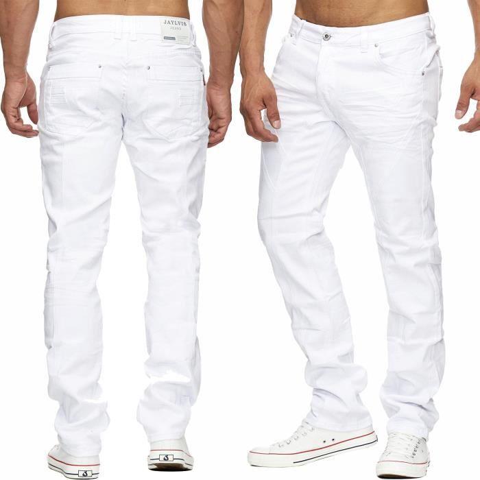 5263dc759e8 Hommes NEVIO denim détresse Jogging Jeans Tapered Fit Bleu Stretch ...