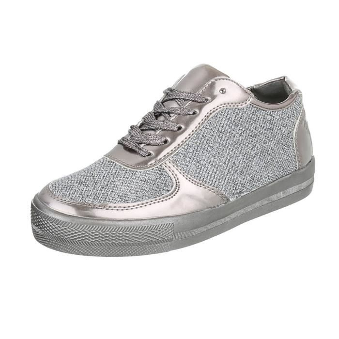 Chaussures femme chaussures sportlaceter Sneakers argent gris 41 VJqJc7