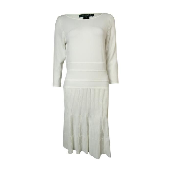 Pull Knit Lauren Femmes Ralph 4 Robe 3 Rib 1kdb02 Manches ZXOPkiu