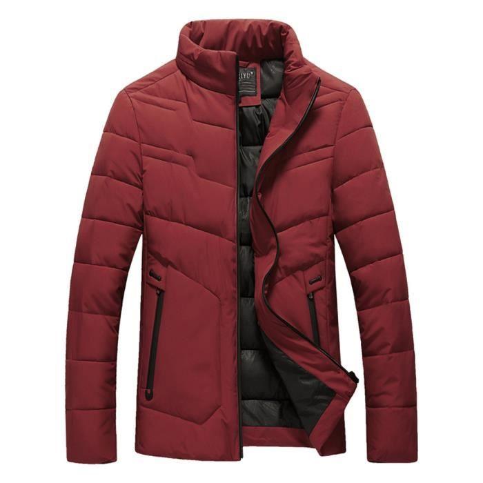 Col Coton Manteau Chaud Épaississement Zippées Poches Casual Les Paontry3258 Droit De D'hiver Hommes Veste vZ0q8nxaX