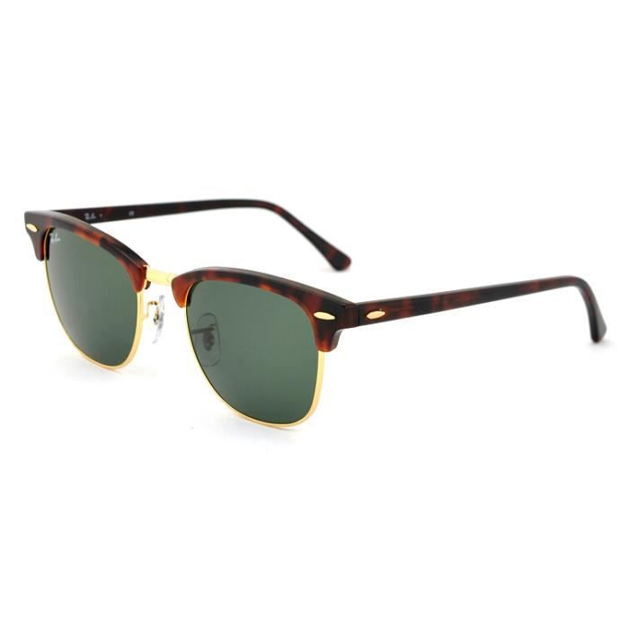 51mm Mixte rb 3016 W0366 RAY BAN clubmaster lunettes de soleil Noir ... 05719efc19b2