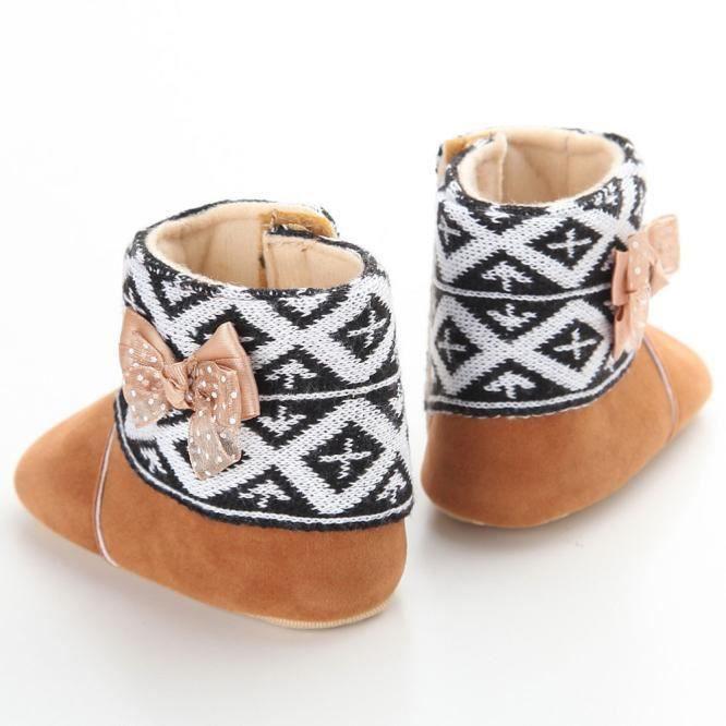 bébé bambin enfant fille bottes de neige semelles douces prémarcheur chaussures de berceau marron