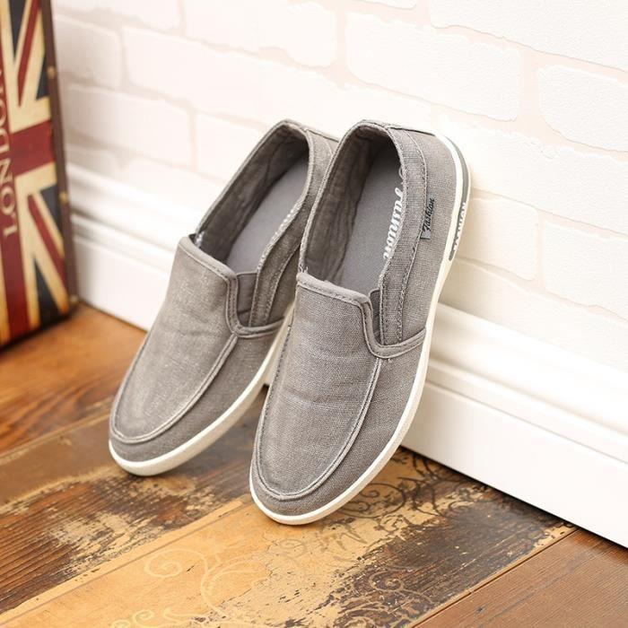 Nouveaux Solid Color Mode Hommes Mocassins Casual Hot ventes Marque Hommes Chaussures Multisport respirant en plein air Chaussures OM3pn5Ie