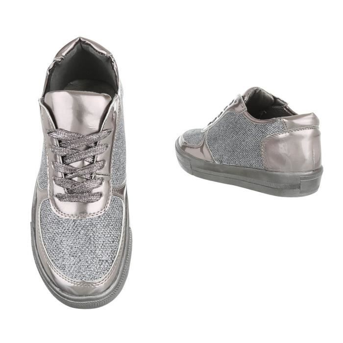 Chaussures femme chaussures sportlaceter Sneakers argent gris 41