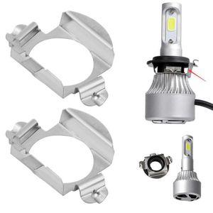 AMPOULE - LED Paire de support de retenue adaptateur ampoules H7