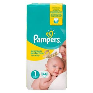 COUCHE Pampers Couches Premium Taille 1 Géant (2-5Kg) x44