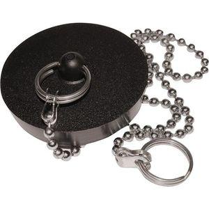 BONDE - CABOCHON Bouchon chainette noir 40mm sc