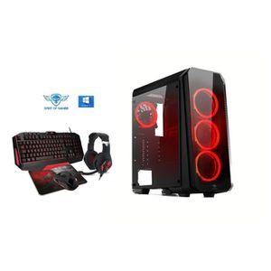 UNITÉ CENTRALE  Ordinateur Pc Gamer Deathmatch 8 Red AMD A8 9600 -