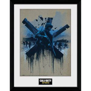 AFFICHE - POSTER Photographie encadrée Call of Duty WWII Front Line