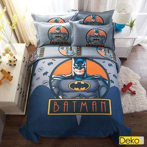 Ideko Housse De Couette Parure De Lit Batman 160x210 1personne 100