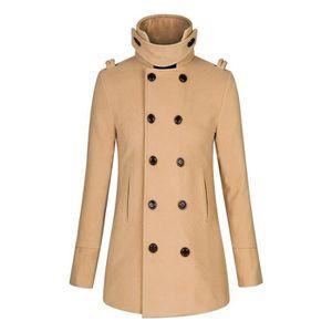 9d29ad18451a MANTEAU - CABAN Manteau Femme Long Jacket Overwear Slim Manteau Lo ...