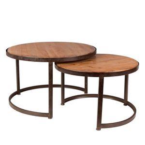 TABLE BASSE Lot de 2 tables basses vintage Jack - Couleur - Bo