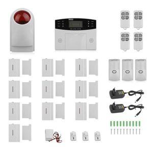 KIT ALARME Système D'alarme Sans fil GSM LCD 433 Intelligent