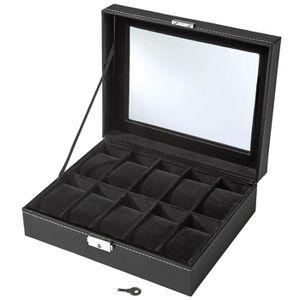 boite rangement montres achat vente pas cher. Black Bedroom Furniture Sets. Home Design Ideas