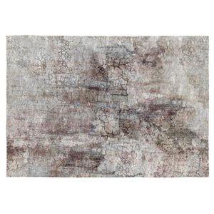 TAPIS Vivabita - Tapis vintage rayé gris en coton plat S