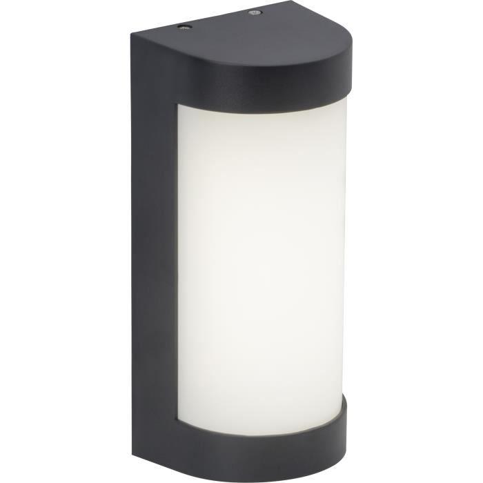 En plastique - Puissance : 6 W - 500 lm - Dimensions : 23,6x8,8x10,8 cm - Coloris : anthracite.APPLIQUE EXTERIEURE