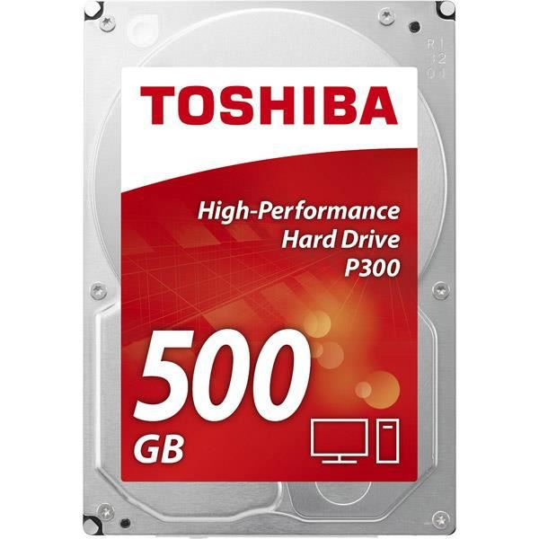 TOSHIBA Disque dur interne P300 - 500 Go - 64 Mo - 3,5'' - 7200 Tours/min