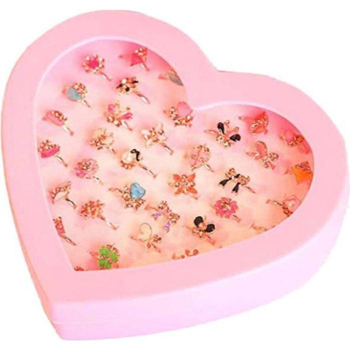 BOITE A BIJOUX 36pcs jouets pour enfants anneaux réglables bijoux