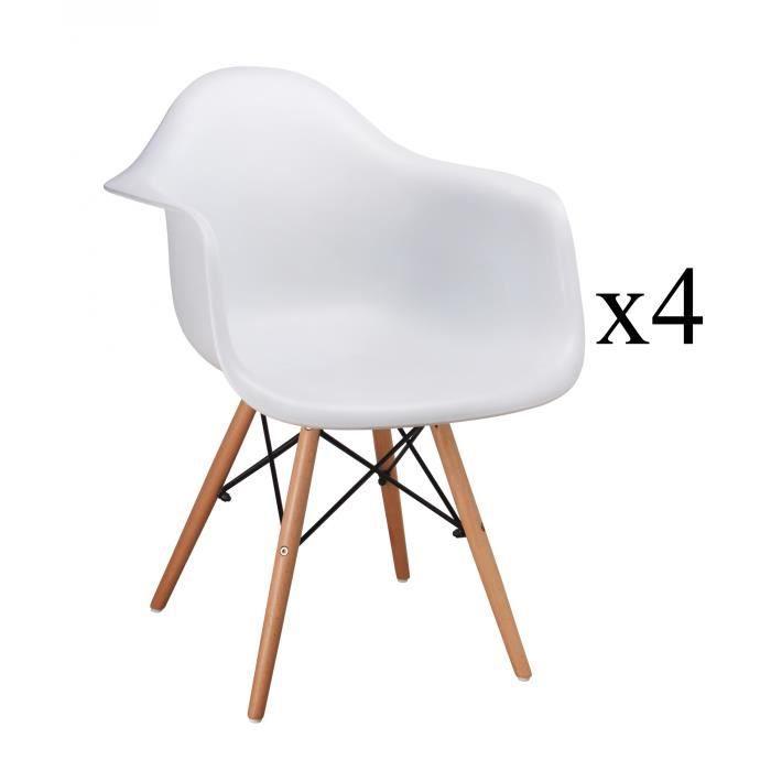 Lot de 4 chaises scandinaves id es d 39 images la maison for Lot de 4 chaises blanches