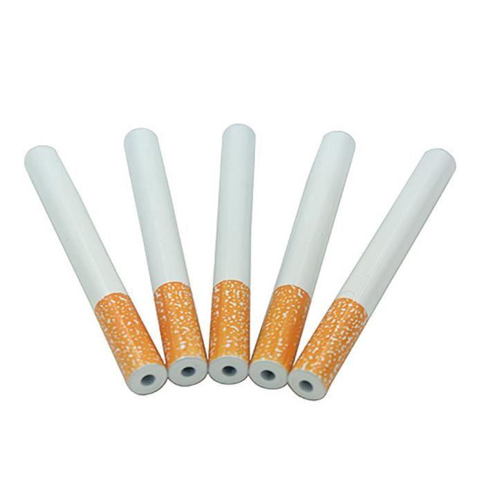 Accessoire de tabagisme de pipe en métal de forme de cigarette un ...